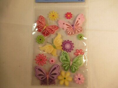 Butterfly Dimensional Self-Adhesive Stickers