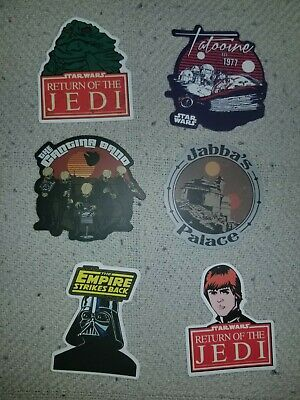 Star Wars Return of the Jedi Empire Strikes Back (6 Skateboard Laptop Stickers)