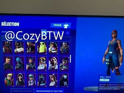 Compte Fortnite 125 Skins RARE IKONIK + Pioche minty + ghoul trooper+ Faucheuse.