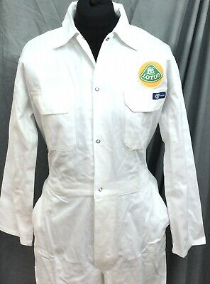 """100% Cotton Goodwood Revival Vintage Retro Lotus Badged Overalls 36 - 38"""" Chest"""