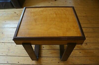 Maple/Burr walnut and Oak Art Deco Occasional table
