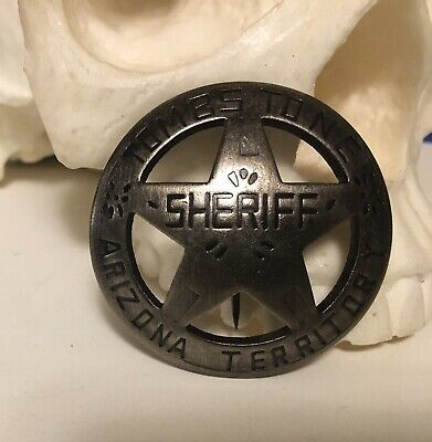 Badges Of The Old West Tombstone Arizona Terr Sheriff MI3029 Badge measures appr