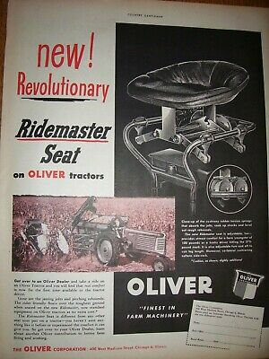 Vintage Oliver Corp Advertising  -# 77 Tractor & Corn Picker - 1949