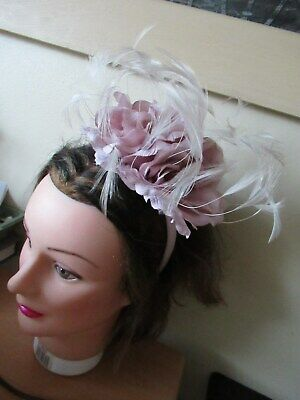 Very Attractive Pinky/Lilac Fascinator On Hairband