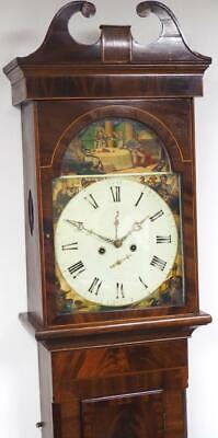 Good Antique Longcase Clock 8 Day Striking Scottish Mahogany Grandfather Clock
