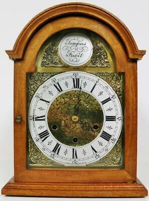 Antique Smiths 8 Day Musical Bracket Clock Westminster Chime Mantel Clock
