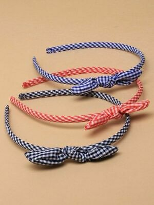 5 Gingham Check Hair Scrunchies Bobbles £2.99 PINK GREEN PURPLE RED BLUE NAVY