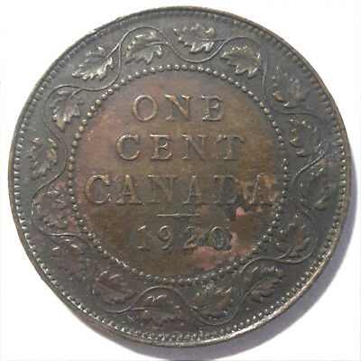 Canada Large 1 Cent King George V 1920