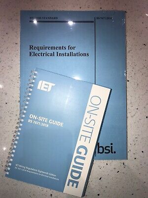 BS7671 Regs & On-Site Guide BS 7671:2018 (2018, Spiral Bound, 18th Edition)