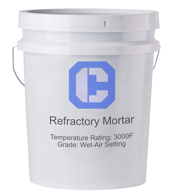 Refractory Cement Wet Mortar 3000℉- 55lb Pail
