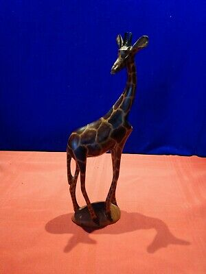 Hand Carved Wooden Giraff