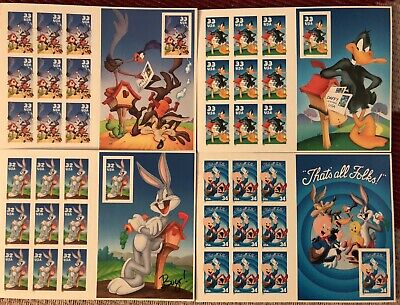10 PIECE LOT BUGS BUNNY 1997 STAMP PLAQUE WARNER BROS LOONEY TUNES WB STORE L20