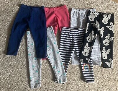 Baby Girls Toddlers Bundle Of 6 Leggings Good Clean Condition