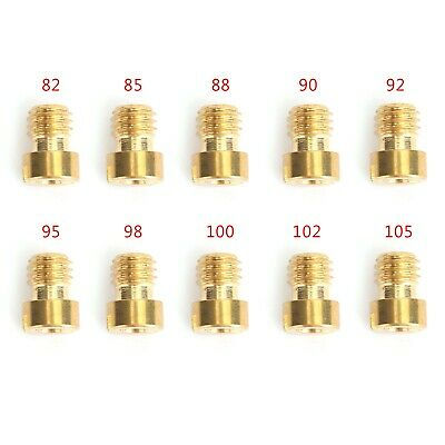 10PC 10 Size 4mm Main Jets for GY6 50cc 139QMB Scooter Carb PZ19 82-105 Durable