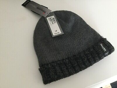 Marks and spencer mens thinsulate grey beanie hat BNWT Man boys