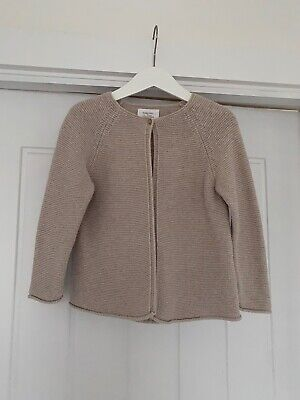 Zara Baby Girl Beige Knitted Cardigan - Size UK 2-3 Years