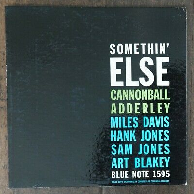 """Cannonball Adderley Somethin' Else 1958 NO""""R"""" First Press BLP 1595 """"Excellent"""""""