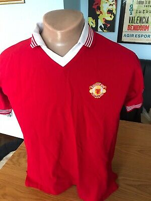 Score Draw 1975/77 Manchester United Man Utd Home Football Shirt Adult Large