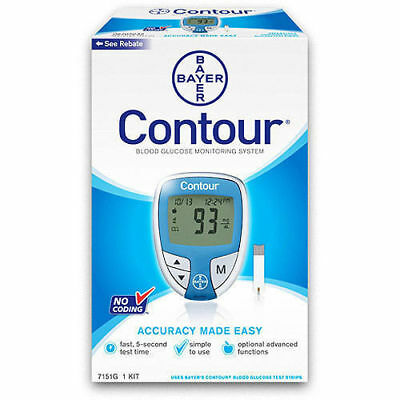 Bayer Contour Blood Glucose Monitoring System Kit (Brand New)
