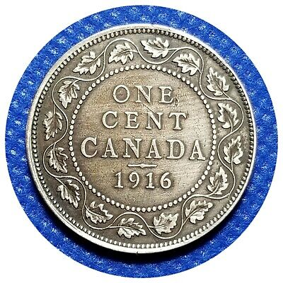 💰 1916 Canada Large One Cent Coin (95% Copper) - King George V #35
