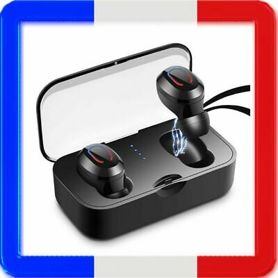 Ecouteur Bluetooth 5.0 Sans Fil Casque Sport Ear-in Oreillette Connecte TWS New