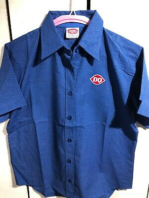 Vintage Dairy Queen Employee Work Shirt Size Small Button Down New