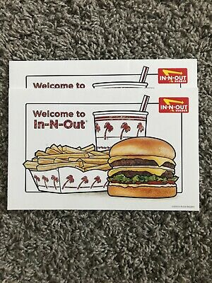 BRAND NEW IN-N-OUT BURGER PICK PLACE STICKER SHEET SUMMER double animal style xi