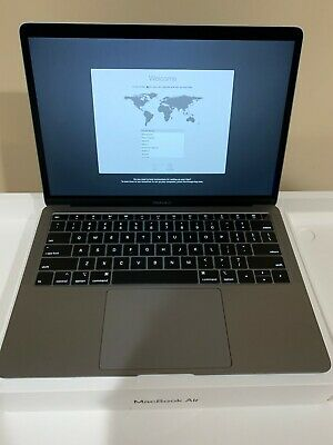 "Zero Charge Cycle 2018 Apple MacBook Air 13"" Retina 128GB 8GB RAM i5 Space Gray"