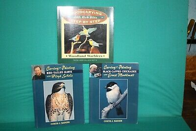 Bird Carving Books - Lot Of 3- . woodcarving