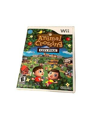 Animal Crossing: City Folk (Nintendo Wii, 2008)  COMPLETE Manual, Art, Disc