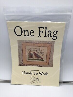 2006 Hands to Work One Flag Cross Stitch Pattern