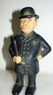 "Vintage Collectible Cast Iron 5"" Policeman Mulligan Still Bank"
