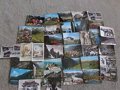 Vintage Lot 37 Italian Postcards Used 1950s to 1970s Austria Ortise Italy