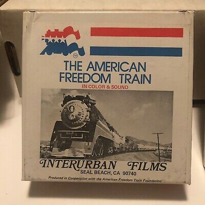 """8mm Film 5"""" THE AMERICAN FREEDOM TRAIN PART 1 Color & Sound Vintage In Great Box"""
