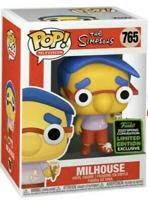 Funko Pop TV #765 Milhouse The Simpsons ECCC Shared Exclusive PreOrder
