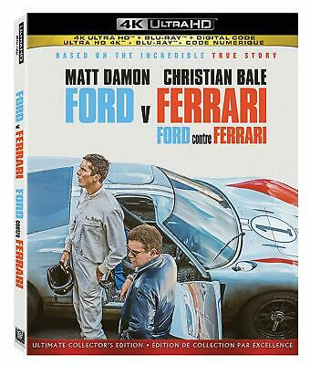 Ford v Ferrari - 4K ULTRA HD +BLU-RAY +DIGITAL +SLIPCOVER Brand New & Sealed!