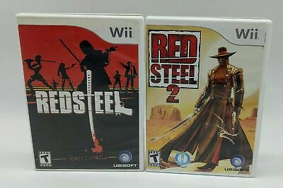 Red Steel & Red Steel 2 Bundle - Nintendo Wii - Complete -Tested -Fast Shipping!