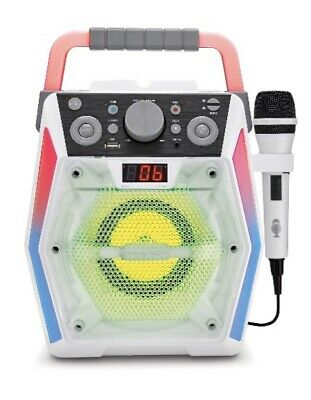 Singing Machine GLOW SML2200 Bluetooth CDG Karaoke Machine New