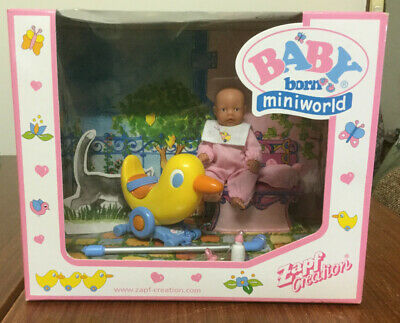 Baby Born Miniworld - Doll with Ride on Duck - NRFB