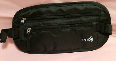 Travel waist wallet with RFID protection sport Running Bum Bag  Pouch -black New