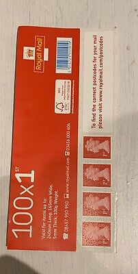 100 Royal Mail 1st Class Self Adhesive Stamps