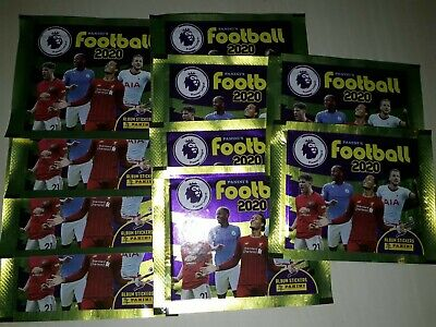 Panini Premier League Football 2020 Stickers.  10 x Sealed Packs