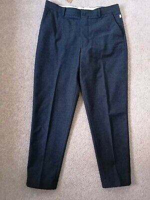 Bellerose Fron Trousers Pants Tapered Charcoal Grey Wool Cotton Fr44 Uk 34