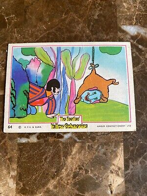 The Beatles Original Yellow Submarine UK Card # 64 Anglo Confectionery LTD