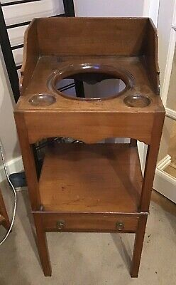 Stunning Small Antique Georgian ? Mahogany Gents Washstand