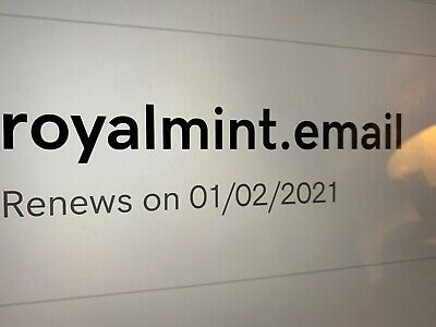 Domain Name RoyalMint.email For Sale Royal Mint email