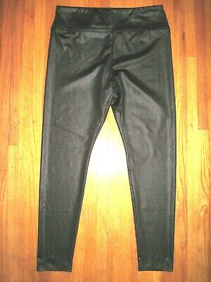 Wild Fable High Waist Slick Black Leather Look Leggings Size Large New