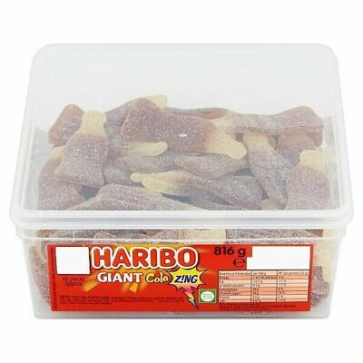 HARIBO Giant Cola Zing - Full Tub 816g - Approx 60 sweets