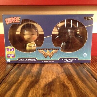 SDCC 2017 Dorbz: Exclusive DC Comics 2 Pack Wonder Woman and Ares NEW
