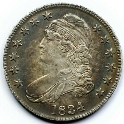 1834 Capped Bust Half Dollar.  High MS!  Large Date small letter o.107